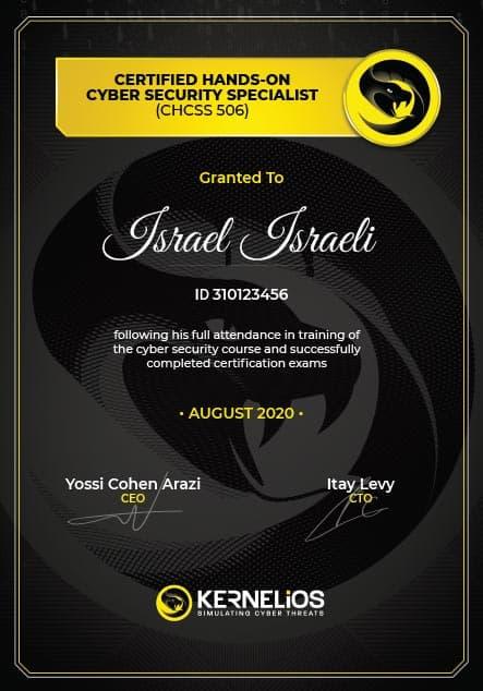 Kernelios certificate